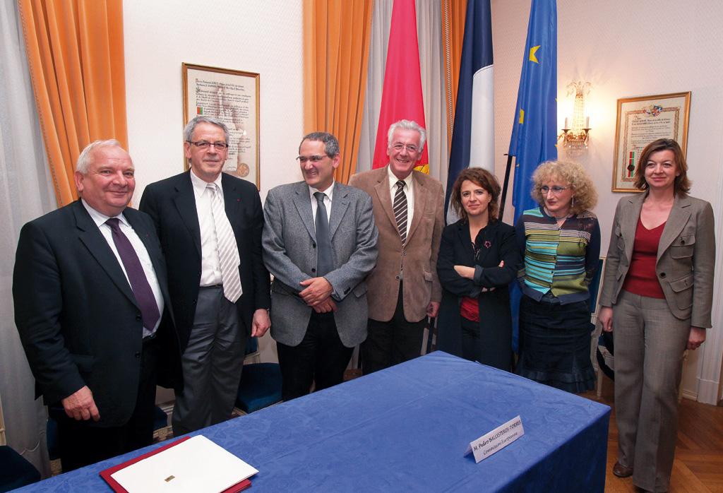 Signature lors de l'adhésion de la Ville de Colmar à la convention des Maires