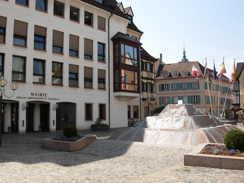 L'entrée de la Mairie de Colmar, place de la Mairie