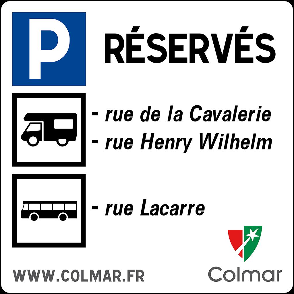 Visuel pour les parkings réservés aux camping-cars et autocars à Colmar