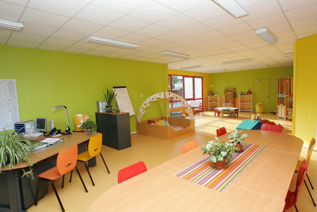 Vue intérieure du relais d'assistantes maternelles à Colmar